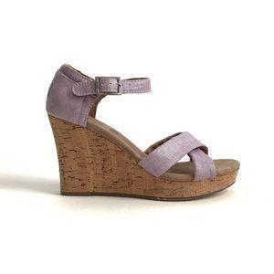 Toms Sienna Wedge Sandal Purple Size 7